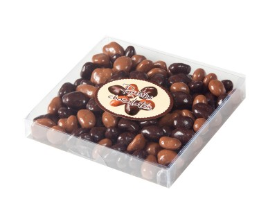Box chocolate coated Raisins 100g