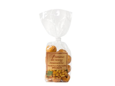 Packet of Charlotte potato shaped chocolates 150g
