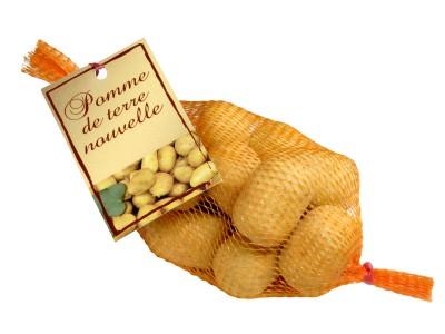 String bag of Charlotte potato shaped chocolates 150g